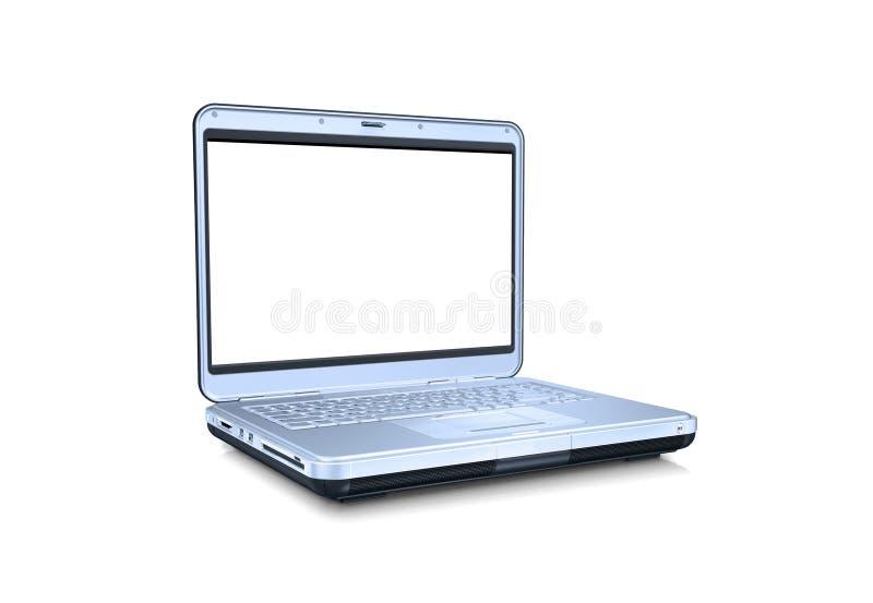 Laptop-Computer mit unbelegtem Bildschirm lizenzfreie stockbilder