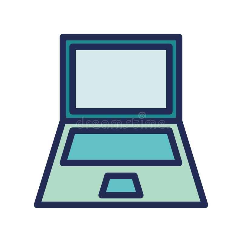 Laptop computer notebook logo or icon illustration. Perfect use for website, app, pattern, design, etc stock illustration