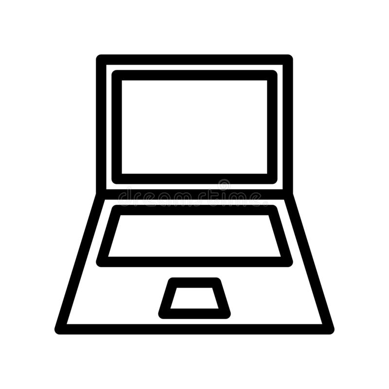 Laptop computer notebook logo or icon illustration. Perfect use for website, app, pattern, design, etc royalty free illustration
