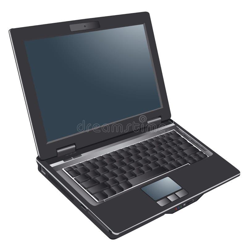 Laptop computer, notitieboekje vector illustratie
