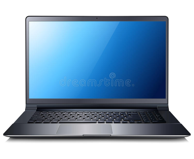 Download Laptop stock vector. Image of detailed, office, realistic - 31779869