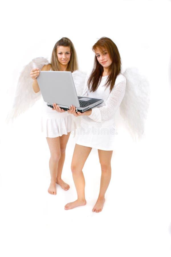 Laptop Computer van Hemel stock foto