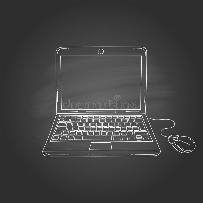 Laptop Computer Vectorillustratie royalty-vrije illustratie