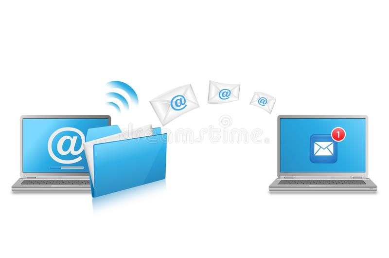 Laptop Computers And Email Stock Images