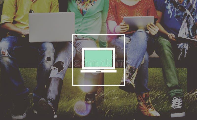 Laptop Concept van het Computertechnologie het Digitale Apparaat royalty-vrije stock fotografie