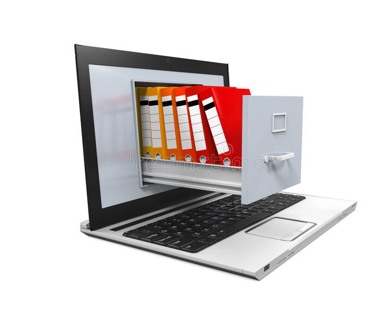 Laptop Data Storage stock illustration