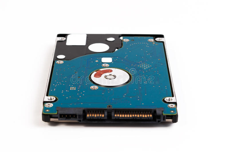 Laptop 2 de harde schijf van 5 die duimsata op een witte achtergrond wordt geïsoleerd royalty-vrije stock foto's