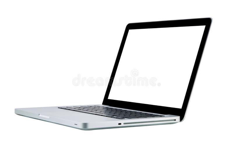 Laptop de isolatie witte vertoning van het computernotitieboekje stock foto's
