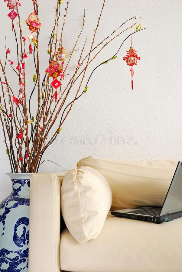 Download Laptop Depicting Working Overtime On New Year Stock Photo - Image: 14274152