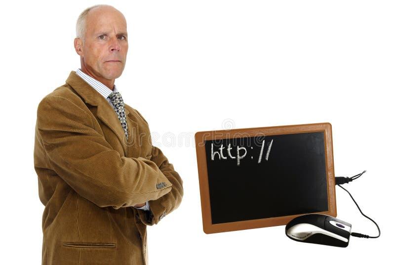 Laptop der alten Schule lizenzfreie stockfotografie