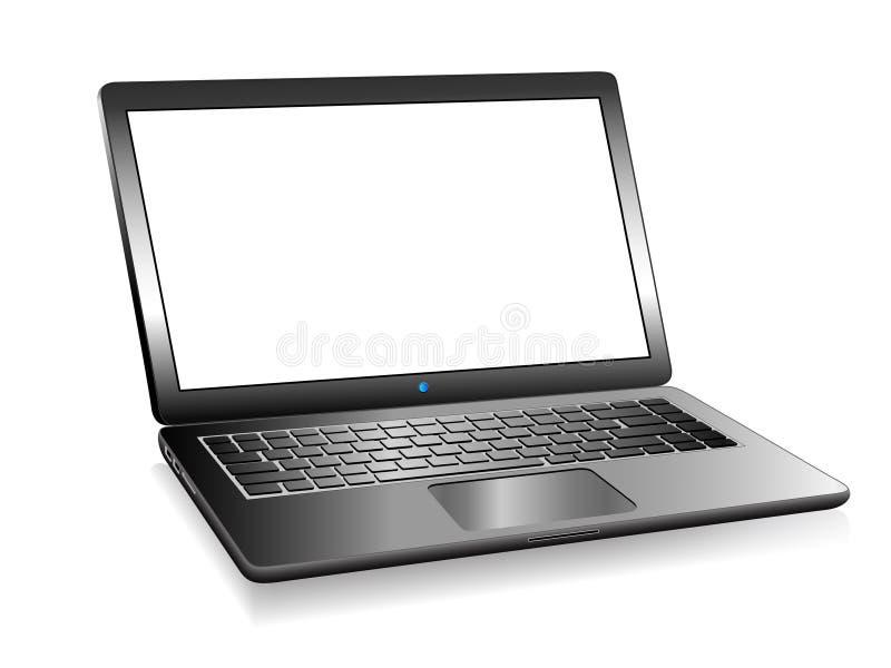 laptop do PC 3D com espaço para sua mensagem ilustração stock