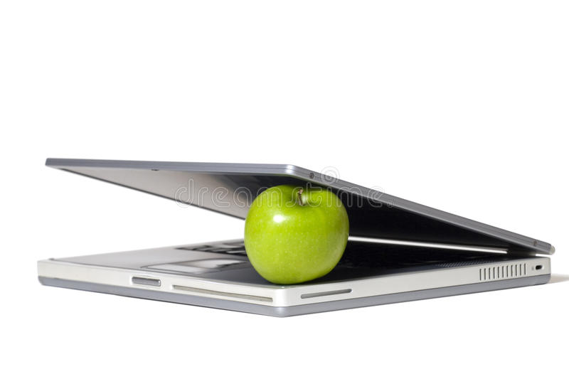 Download Laptop Eating Apple stock photo. Image of business, food - 29393352