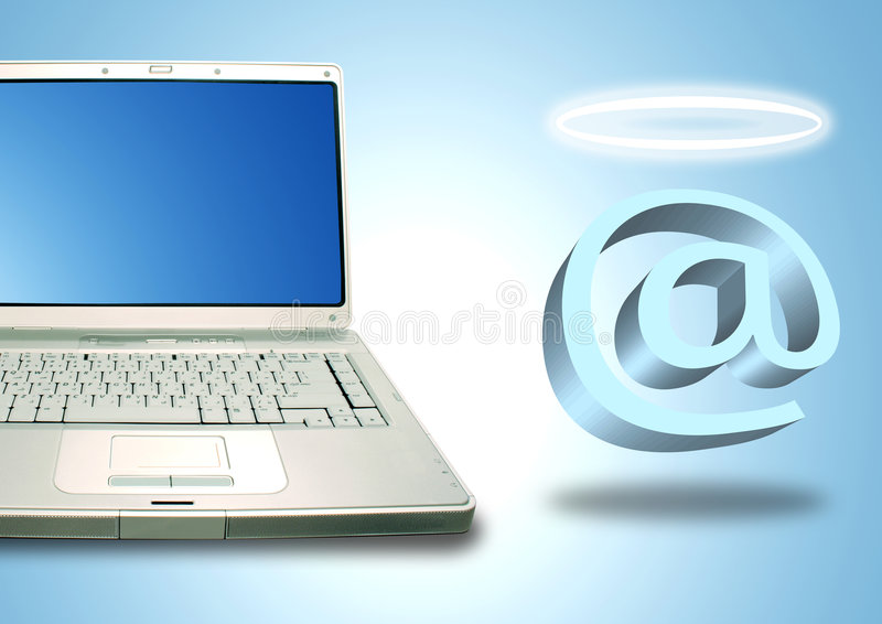 Download Laptop And Email Angel Stock Images - Image: 2771274