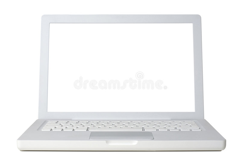 Download Laptop front stock image. Image of white, mobility, network - 4213301