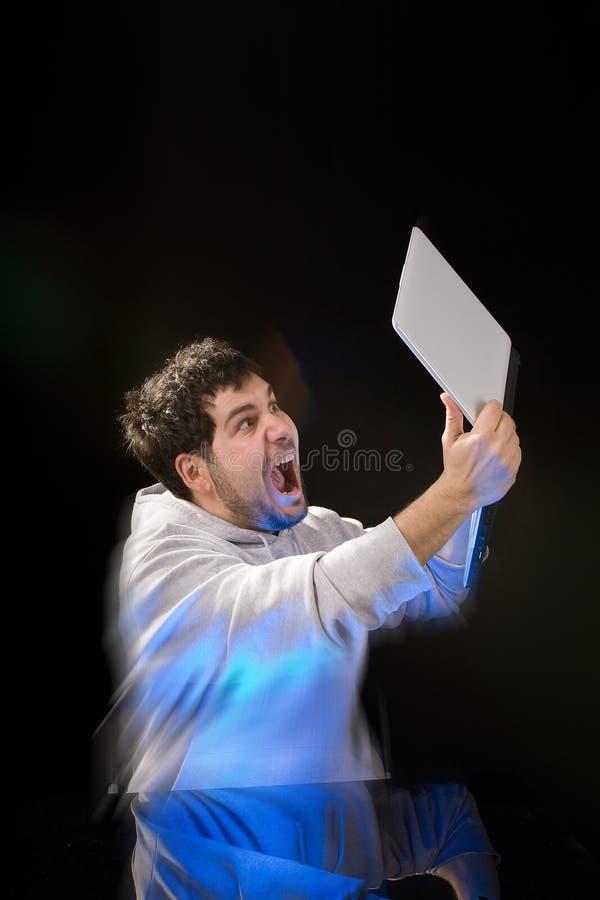 Download Laptop frustration stock image. Image of gesture, people - 9908007