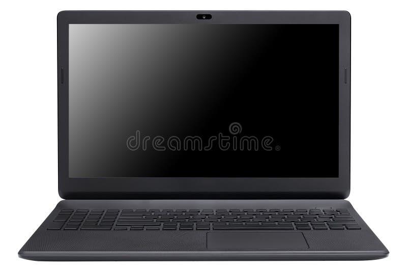 Laptop getrennt auf Weiß lizenzfreie stockbilder