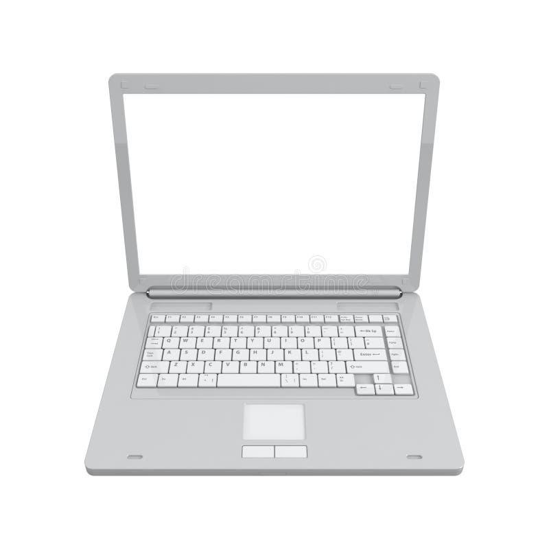 Laptop getrennte Draufsicht stockfotos
