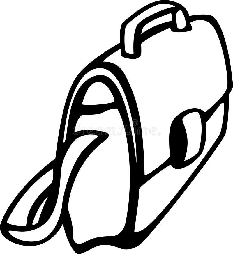 Laptop geval of zak royalty-vrije illustratie