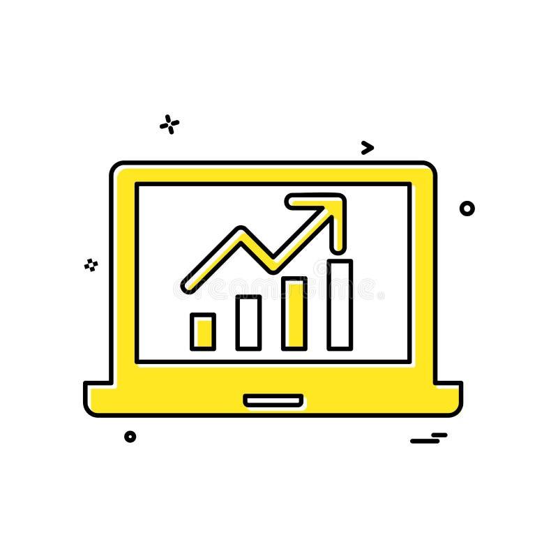 Laptop Graph icon design vector royalty free illustration