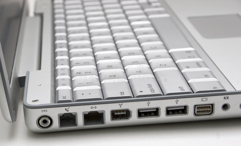 Laptop Havens royalty-vrije stock foto