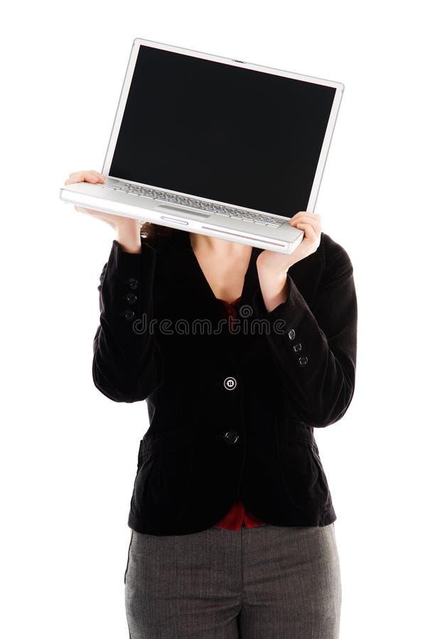 Laptop Head stock photo