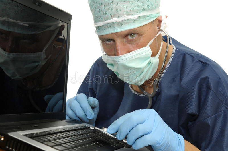 Laptop health stock image