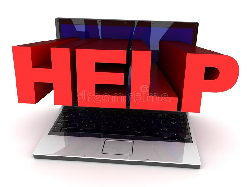 Download Laptop help stock illustration. Image of protect, manual - 13404355