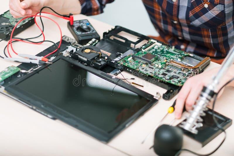 Laptop het geheugen hdd bewerker van verbeteringsprestaties royalty-vrije stock afbeelding