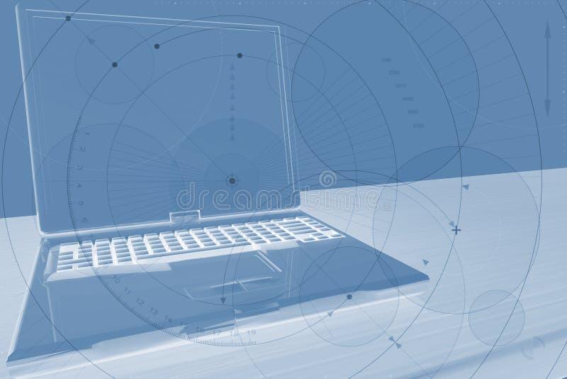 Laptop-Hintergrund vektor abbildung
