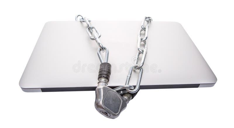 Laptop i łańcuchy VII zdjęcia royalty free