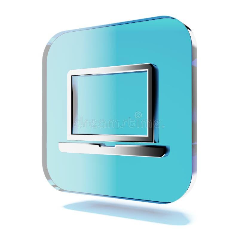 Laptop icon stock illustration