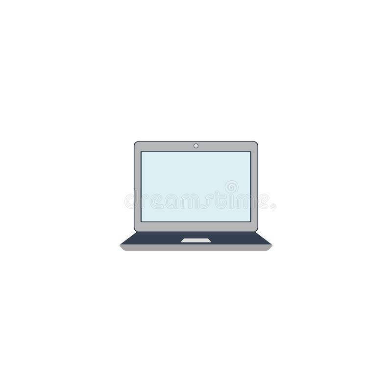 Laptop icon. Monitor. PC. White background. Vector illustration. EPS 10 vector illustration