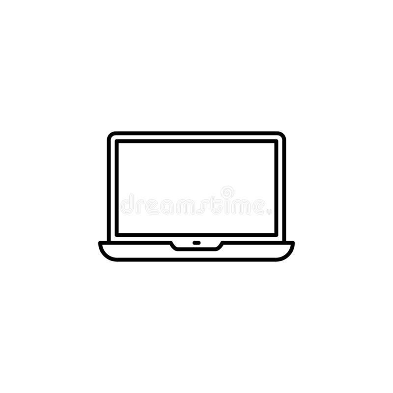 Laptop Icon in trendy flat style isolated on grey background. Computer symbol for your web site design, logo, app, UI. Vector vector illustration