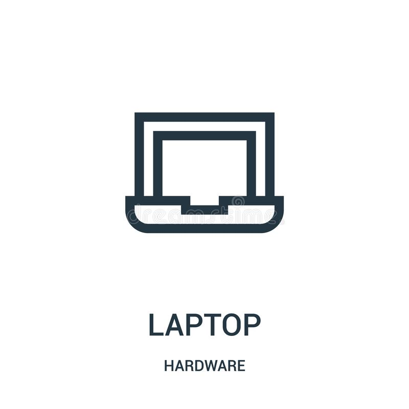 laptop icon vector from hardware collection. Thin line laptop outline icon vector illustration royalty free illustration