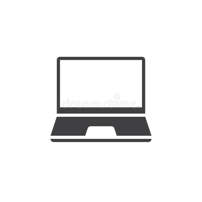 Laptop icon vector, mobile computer solid logo, pictogram isolated on white, pixel perfect illustration stock illustration