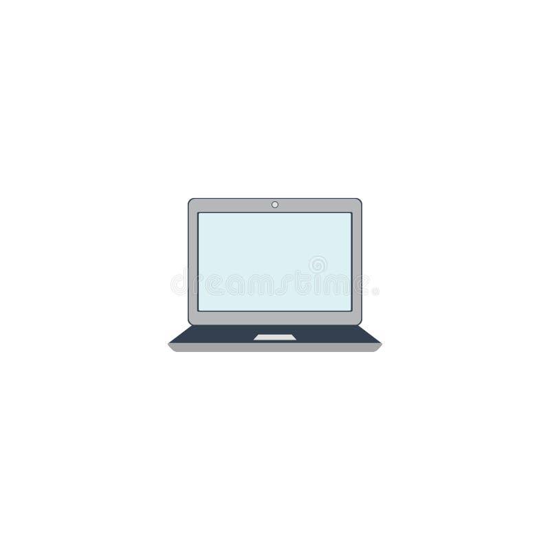 Laptop ikona monitor komputer osobisty Biały tło również zwrócić corel ilustracji wektora 10 eps ilustracja wektor