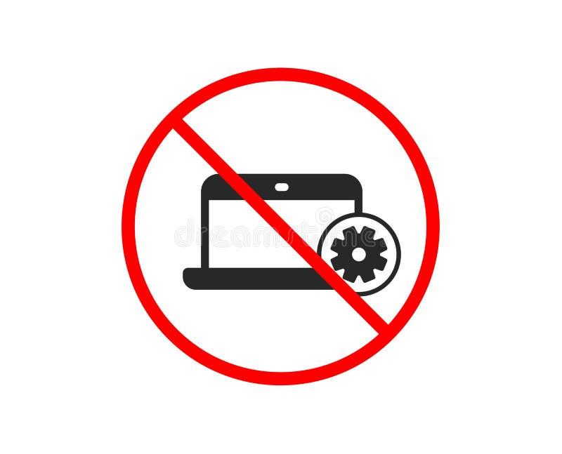 Laptop ikona Notatnik us?uga znak wektor ilustracja wektor