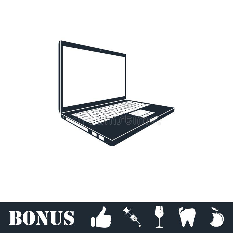 Laptop ikony mieszkanie royalty ilustracja