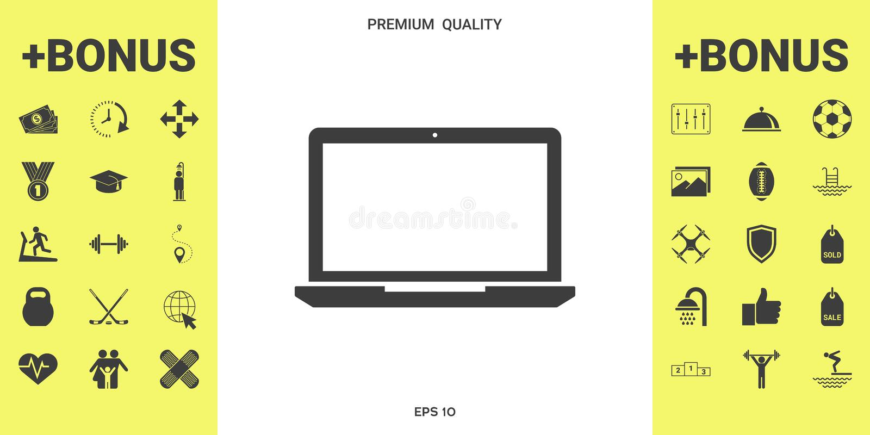 Laptop ikony symbol ilustracji