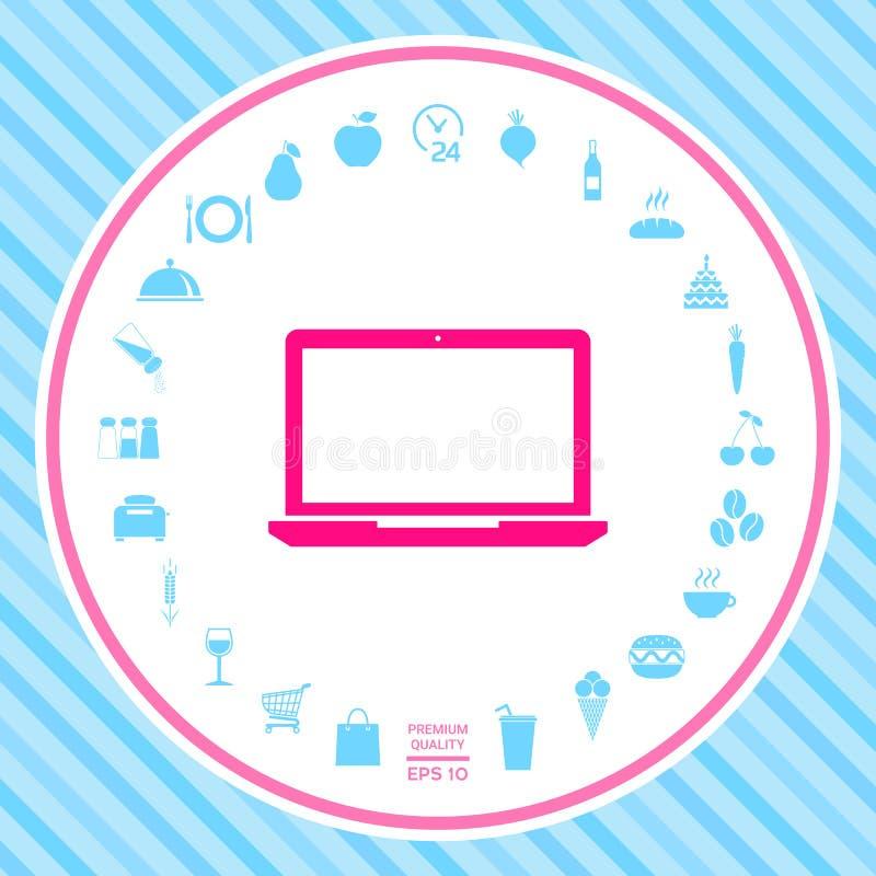 Laptop ikony symbol royalty ilustracja