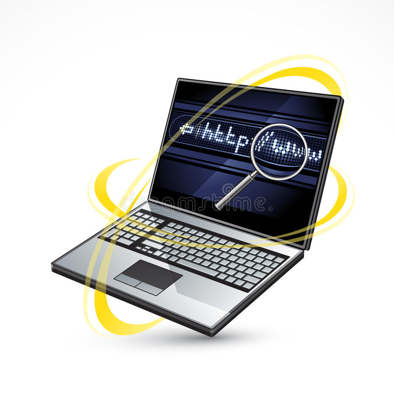 Laptop and internet vector illustration
