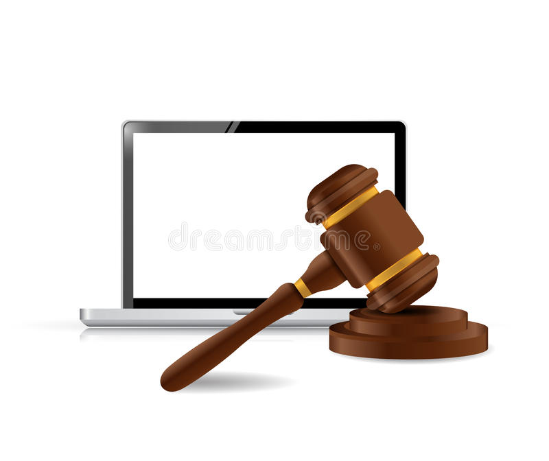 Laptop internet law concept illustration royalty free illustration