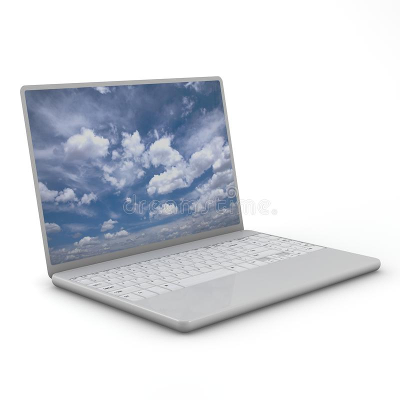 Free Laptop Isolated. Three-dimensional, Isolated On Stock Photography - 15013362