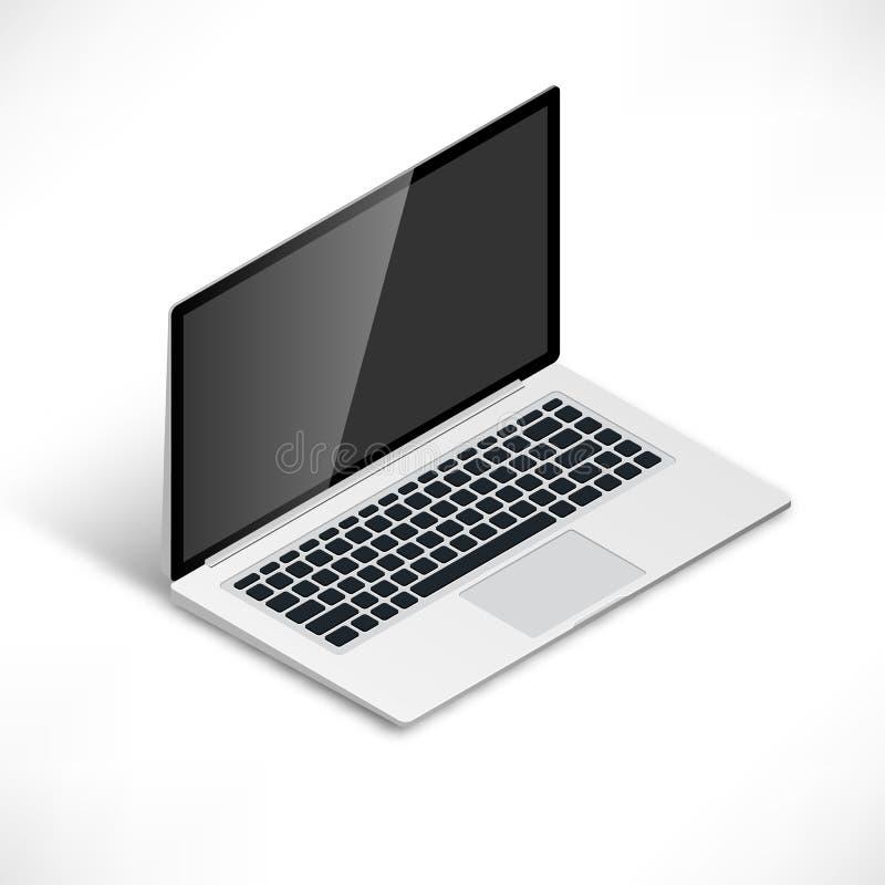 Laptop isometric ilustracja wektor