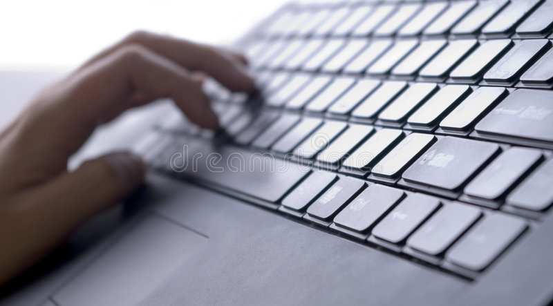 Laptop keyboard stock photography