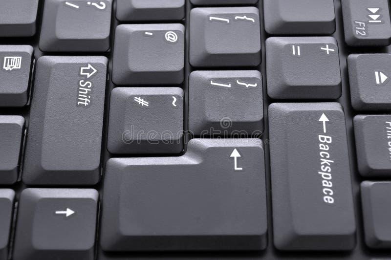Keyboard closeup. Laptop keyboard closeup abstract photo royalty free stock images