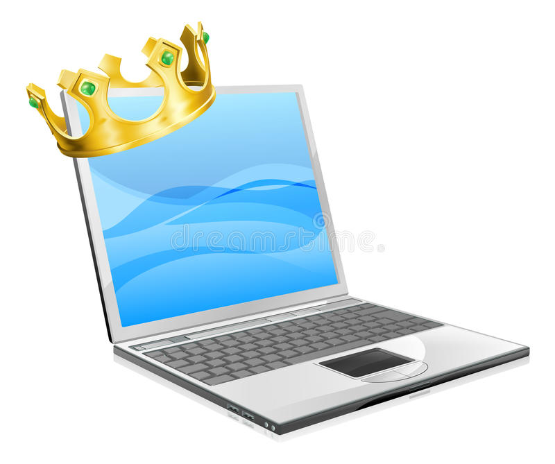 Laptop King Stock Image
