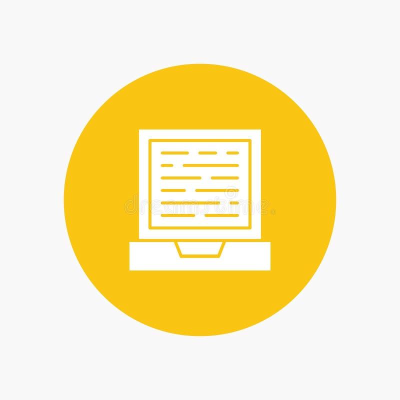 Laptop, komputer, projekt ilustracja wektor