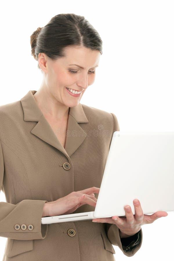 laptop komputerowa kobieta obraz royalty free