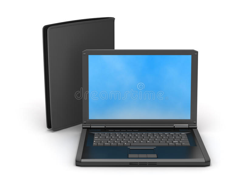 Download Laptop and leather wallet stock photo. Image of modern - 39514852